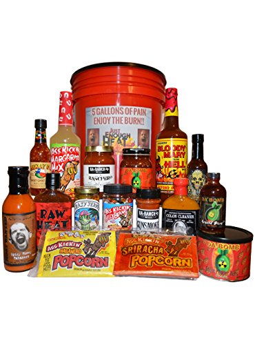 5 Gallons of Pain Spicy Gourmet Hot Sauce Gift Basket Set