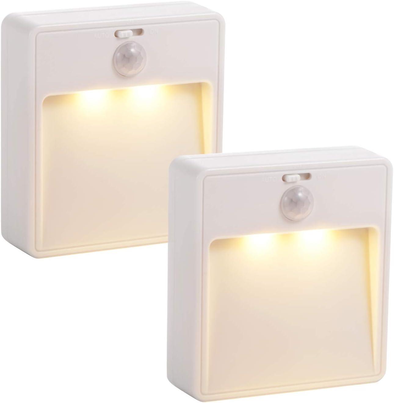 Motion Sensor Night Light, Led Bathroom Night Light Night Lights for Kids Motion Light Stick On Lights Closet Light Stair Lights Battery Operated