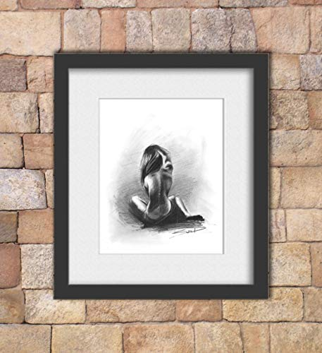 Charcoal Figure Drawing, Nude Art, Naked Woman Art, Erotic Art, Erotic, Nude Model by SignedSweet (Image #2)