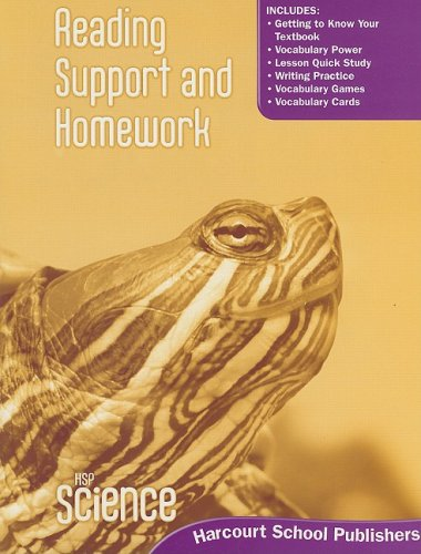 Harcourt Science: Reading Support and Homework Student Edition Grade 3
