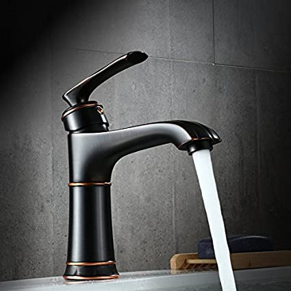 Guoke Touch The Bathroom Sink Faucet Black Simple Washbasin Faucet