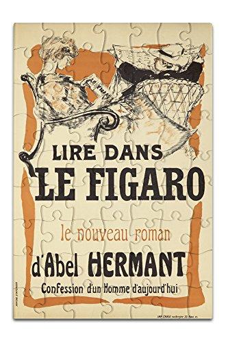 le-figaro-vintage-poster-artist-bonnard-pierre-france-c-1894-8x12-premium-acrylic-puzzle-63-pieces