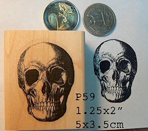 P59 Skull rubber stamp (Stamp Skull)