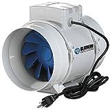 6 inch inline fan hydrofarm - Blauberg Inline Mixed Flow Fan, 6-Inch