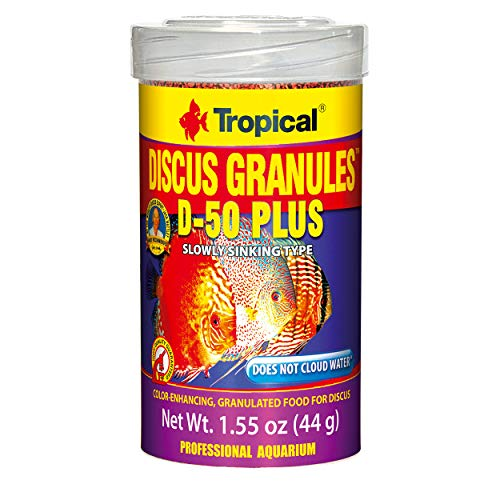 (Tropical USA Discus Granules D-50 Plus Fish Food Tin, 44g)