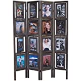 Proman Products Oscar II Picture Folding Screen, Torched Brown