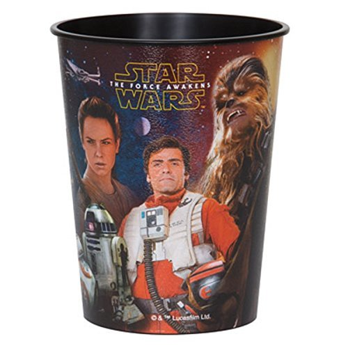 Star Wars Force Awakens Plastic 16 Ounce Reusable Keepsake Favor Cup (1 Cup) ()