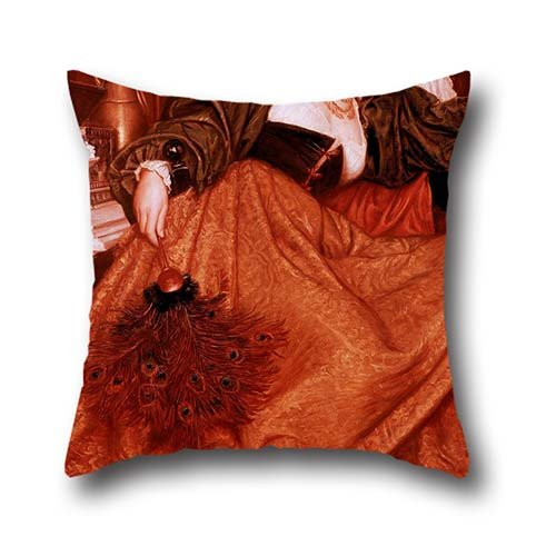 Cushion Covers 16 X 16 Inch / 40 By 40 Cm(two Sides) Nice Choice For Wedding,chair,birthday,girls,coffee House,car Oil Painting Valentine Cameron Prinsep - Leonora Of Mantua ()