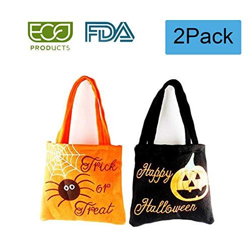 VEELCOOL Trick or Treat Halloween Sweet Bags Tote Bag Kids Candy Fun -