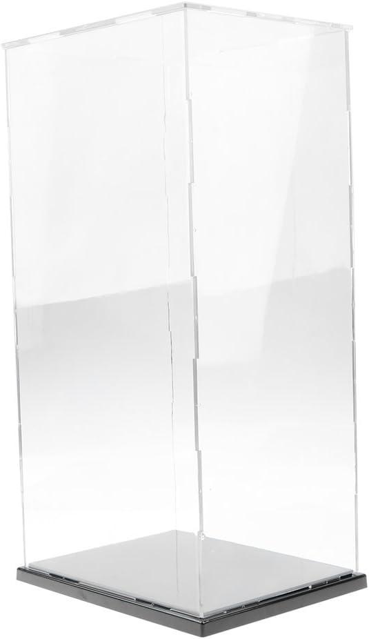 16,5 x 12,5 x 24,5 cm MagiDeal Vetrina Espositiva Trasparente Antipolvere Modello Figure Statuette Acrilico Plastica