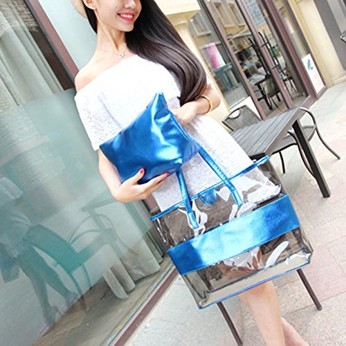 Screen Zmuk Blue Pocket 1 Zhuomei Blue Small Zb0320 Mujer blue For 4Bddqw