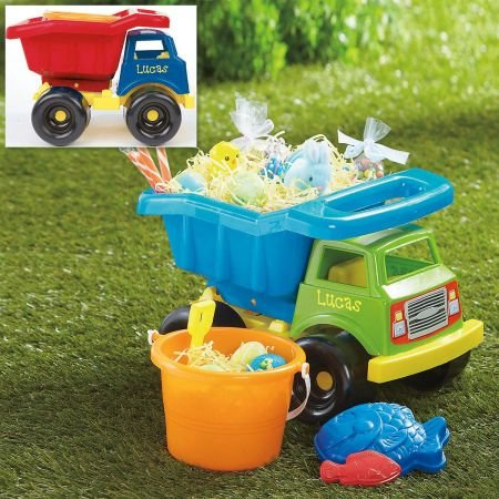 Personalized Plastic Dump Truck and 4 Sand Toys- 15