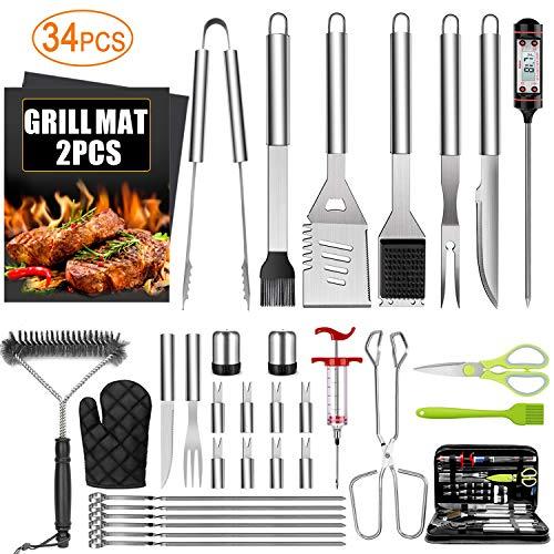 34PCS BBQ Grill Accessories