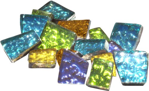 Mosaic Mercantile Sparkle Assorted Mosaic Tile, 1/2-Pound -