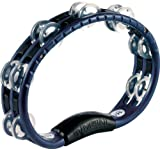 Meinl Percussion TMT1A-B Traditional ABS Plastic Handheld Tambourine with Double Row Aluminum Jingles, Blue