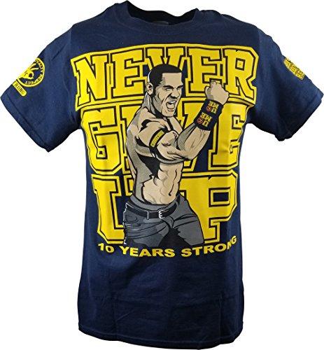John Cena Blue Ten Years Strong Kids T-Shirt Boys by Hybrid Tees