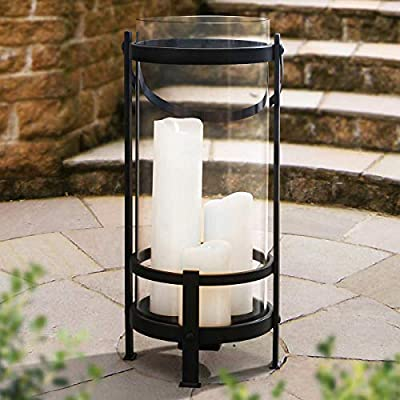 Sunjoy Gentry 3 Flameless LED Candle Outdoor Lantern with Remote Control