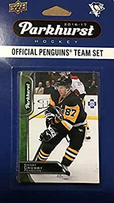 Pittsburgh Penguins 2016 2017 Parkhurst Hockey Factory Sealed 10 Card Team Set with Sidney Crosby, Evgeni Malkin, Phil Kessel plus