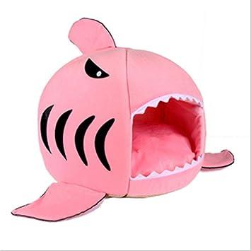 YONGYONG De Dibujos Animados Mascota Gato Camada Cama Perrito Perrera Cuatro Temporadas Tiburón General Nido Perro Gruesa Habitación Cálida Yurta (Color ...