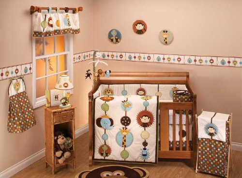 Piece Crib Bedding Set Bundle W Bumper ()