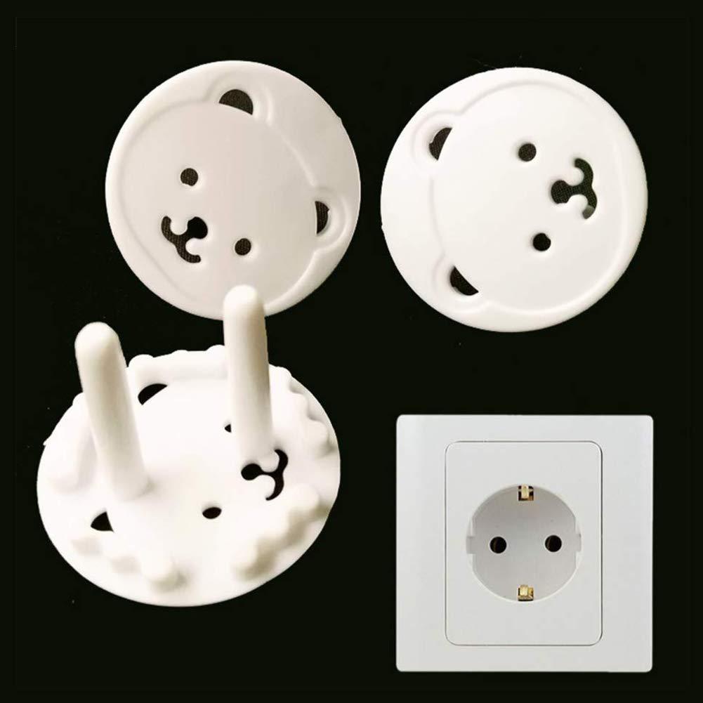 Baby Proofing Prises de sortie de s/écurit/é pour b/éb/é Couvertures 2 Prong Outlet Plug-Socket Capot de protection de s/écurit/é Prise /électrique Prises pour Bureau Blanc 32pcs
