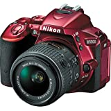 Nikon D5500 Digital SLR DX-format Camera with 18-55mm II VR Lens (Red) - International Version (No Warranty)