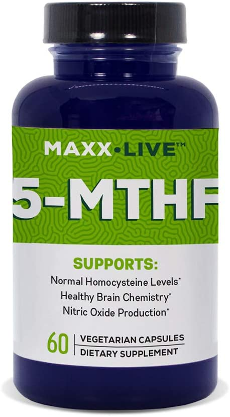 Maxx Live 5-MTHF Top Quality L-Methylfolate 5MG Professional Strength Active Folate 60 Capsules