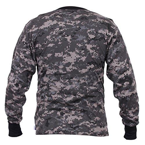 Long Sleeve Digital Camouflage T-Shirt, Subdued Urban