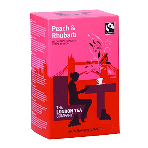 London Fruit Tea (The London Tea Company 20 Enveloped Peach and Rhubarb Flavours Fruit Infusion Bags 50 g (Pack of 6))
