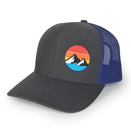 WUE Explore The Outdoors Trucker Hat - (Charcoal/Royal) ()