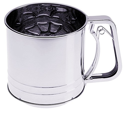 Prepworks by Progressive Triple-Screen Flour Sifter, Stainless Steel - 5 Cup Capacity by Progressive