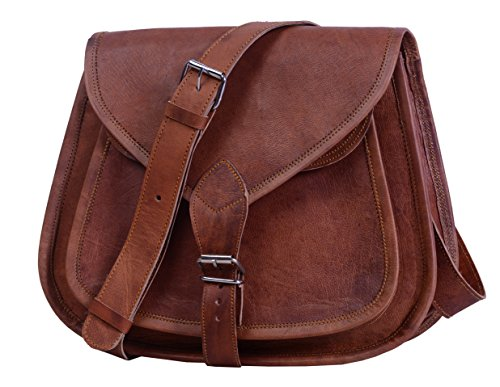 "Price comparison product image Komal's Passion Leather 12"" Leather Purse Satchel"
