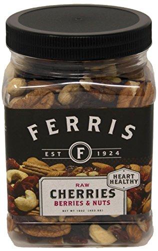 Ferris Coffee & Nut Cherries Berries & Nuts, Raw Trail Mix, 16 Ounce ()