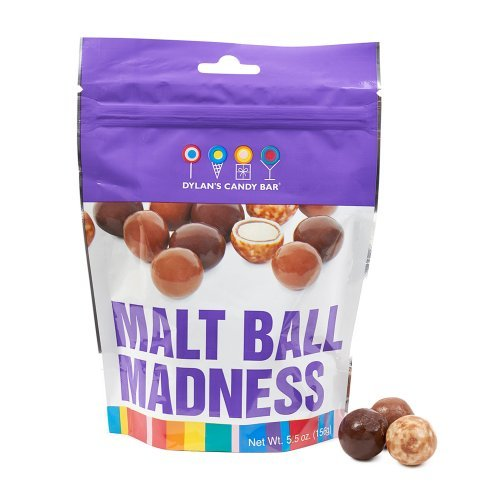 Dylan's Candy Bar Good-To-Go Pouch Malt Ball Madness (Balls Malt)