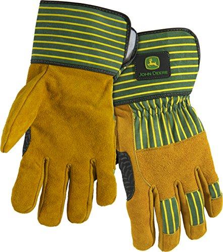 West Chester John Deere JD00005 Premium Split Cowhide Leather Palm Work Gloves: Large, 1 Pair