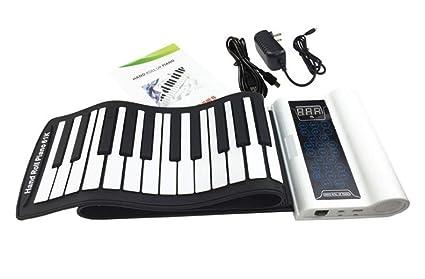 Piano Portátil Flexible De 61 Teclas Estéreo De Doble Altavoz Teclado Suave USB Plegable, Apto