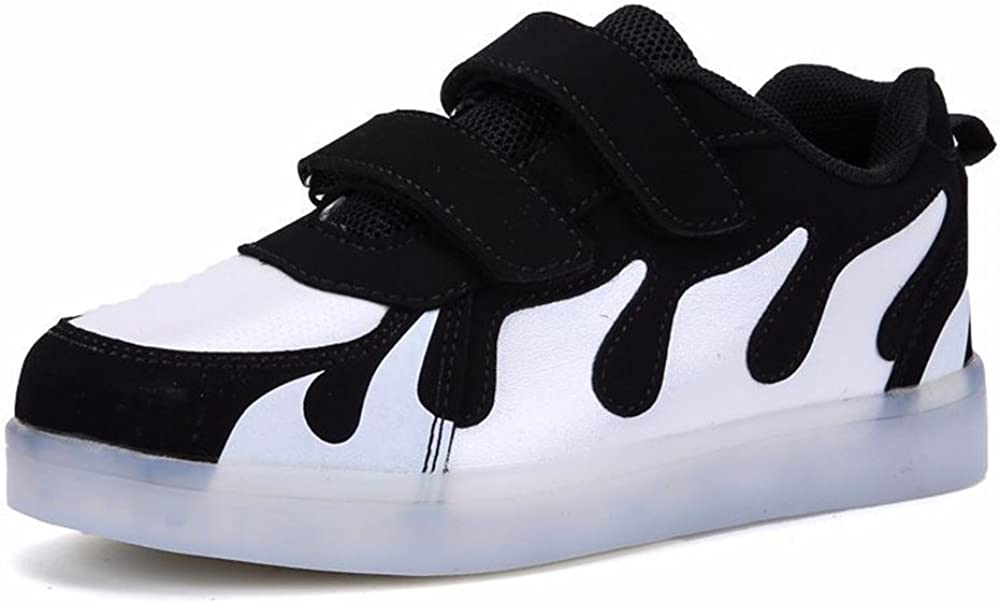 Flashing Rechargeable Fashion LED Sneakers Youth Kids Toddler Cute Shoes
