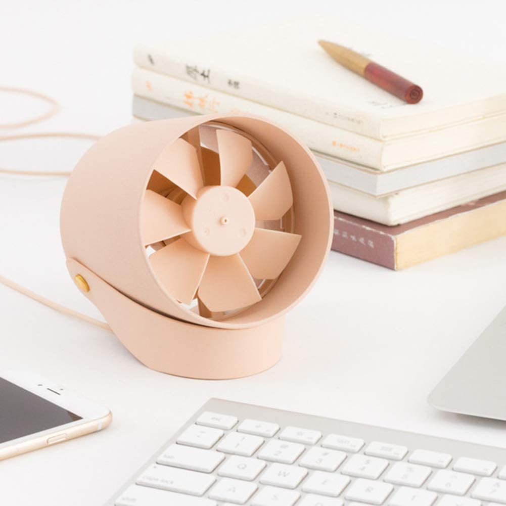 White Small USB Fan Smart Electric USB Portable Fan Quiet Touch Control Desktop Air Cooler for Office Living Room