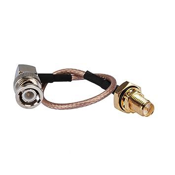 6 RF conjunto de Cable Coaxial Cable eléctrico Conector BNC Adaptador de conector de enchufe