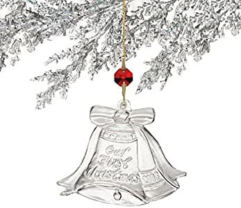 Amazon.com: Waterford Our First Christmas Ornament 2008 ...