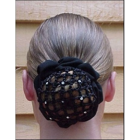 Price comparison product image Whinny Widgets Hair Net Scunchie w/clips (Navy)