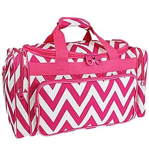 Ever Moda Pink Chevron Duffle Bag 19-inch - Pink Kids Bag