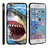 shark iphone 6 case - TurtleArmor | Compatible for Apple iPhone 6 Case | Apple iPhone 6s Case [Flexible Armor] Ultra Slim Compact Flexible TPU Case Fitted Soft Bumper Cover Animal Design - Shark Attack