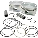 S&S Cycle Forged Piston Kit for 89ci. Stroker Kit Flat Top Bore 3 1/2