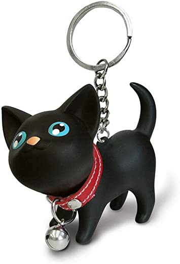 BLACK /& WHITE CAT Keyring /& Bag CharmsGreat Gift for Cat LoverFREE P/&P