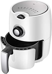 yong 1000W Air Fryer, 2.4L Fast Large Hot Air Fryers & Oilless Cooker, Roast/Bake/Keep Warm, Low Fat, Low Calorie, high Nutrition, Suitable for Dishwasher, Nonstick