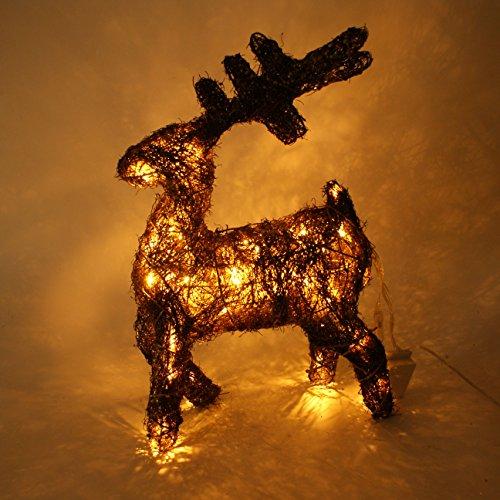 Outdoor Lighted Grapevine Deer in US - 5