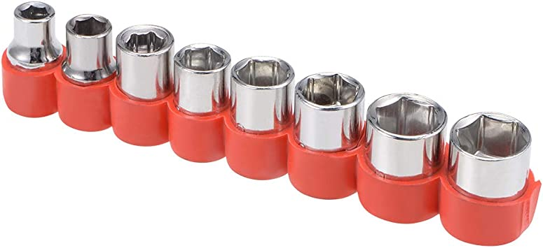 uxcell/® 1//4-Inch Drive Hex Socket Set 5mm 1 Set 12mm Metric Cr-V