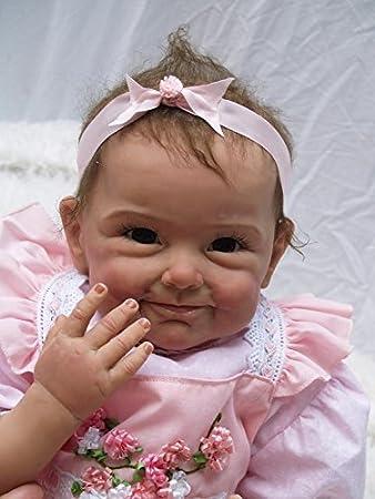 Nicery Baby Born Reborn Weich Silikon Vinyl für Jungen und Mädchen Geburtstagsgeschenk 50-55cm Dolls gx55-60de
