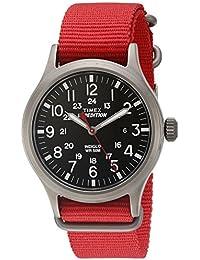 Men's TW4B04500 Expedition Scout Red Nylon Slip-Thru Strap Watch